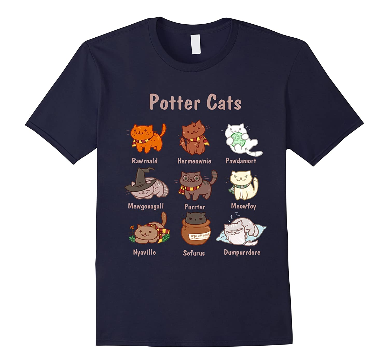 Potter Cats t-shirt-FL