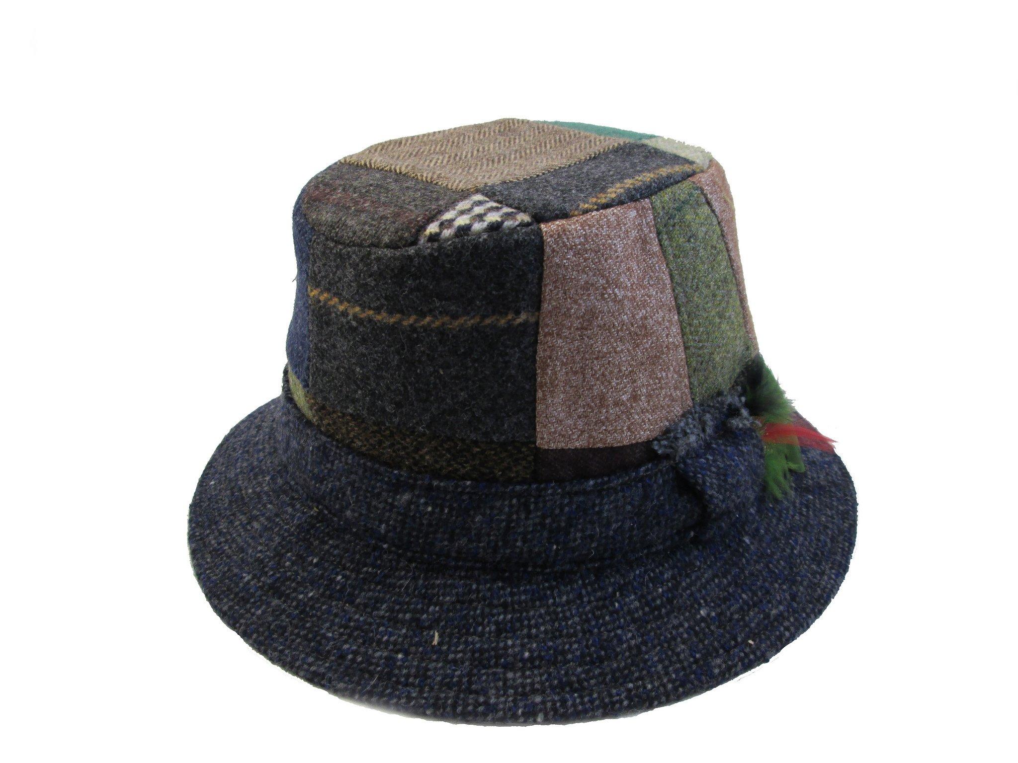 07f9f94047601 Mens Walking Hat Irish Tweed Patchwork Hanna Hats Ireland Medium Apparel