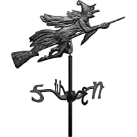 Whitehall Products Flying Witch Garden Weathervane, Black