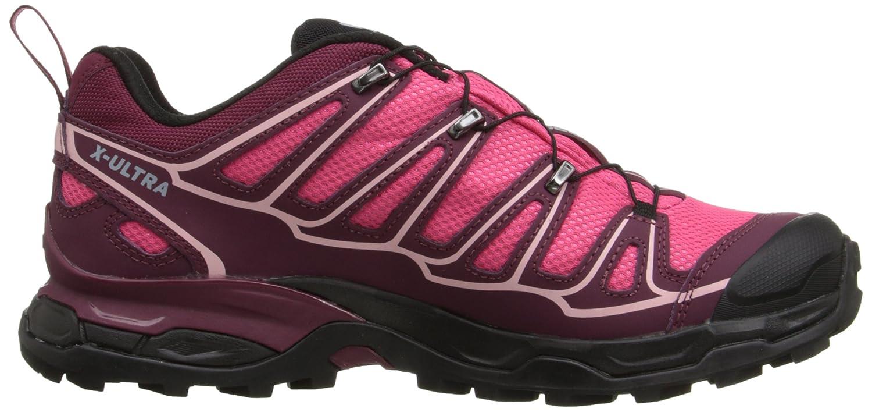 Salomon X Ultra II GTX - Botas para mujer, Rosa (hot pink/bordeaux/pebble blue), 42 2/3: Amazon.es: Zapatos y complementos