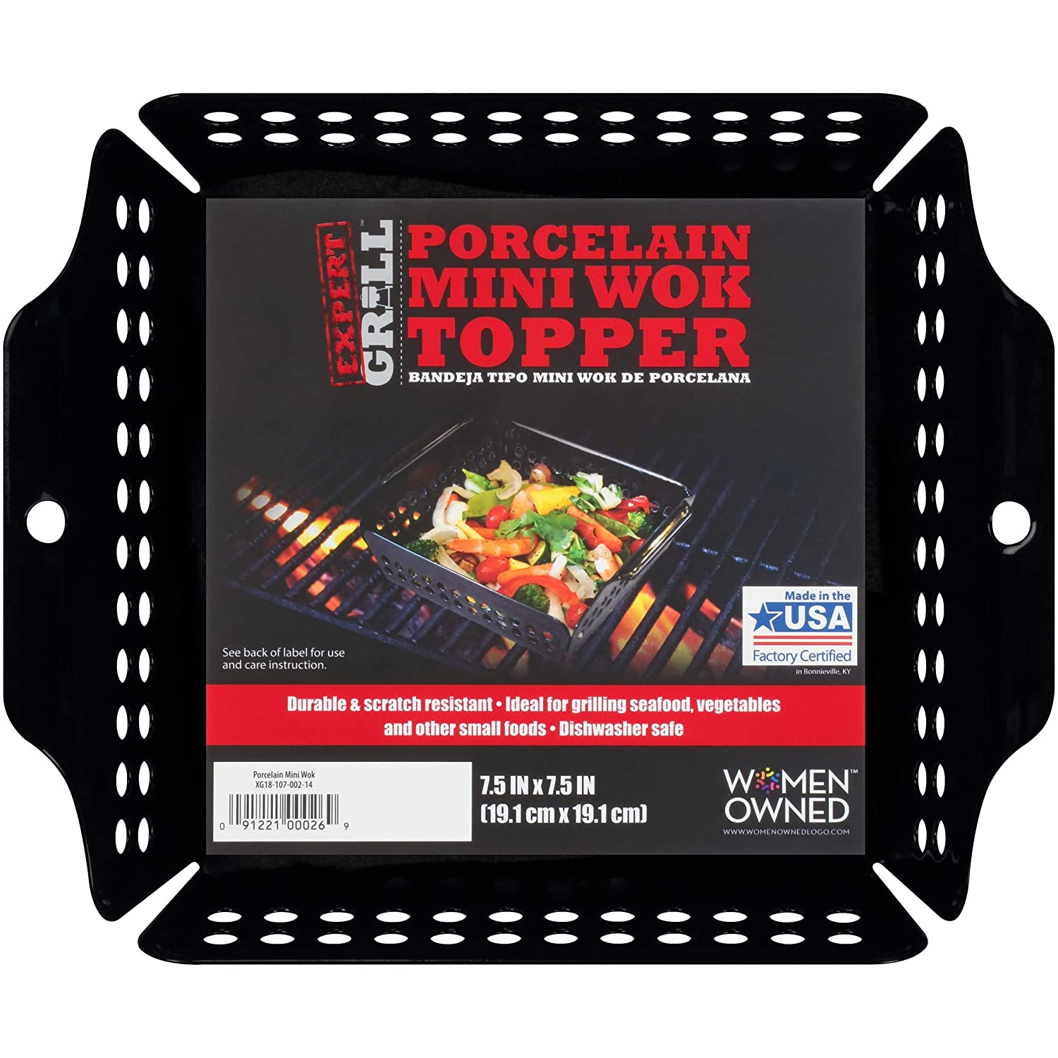 Expert Grill Porcelain Mini Wok Topper Made in USA