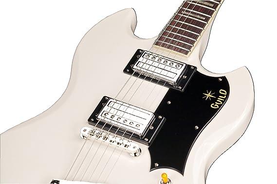 Hermandad S-100 Polara sólido cuerpo para guitarra eléctrica con funda (negro): Amazon.es: Instrumentos musicales