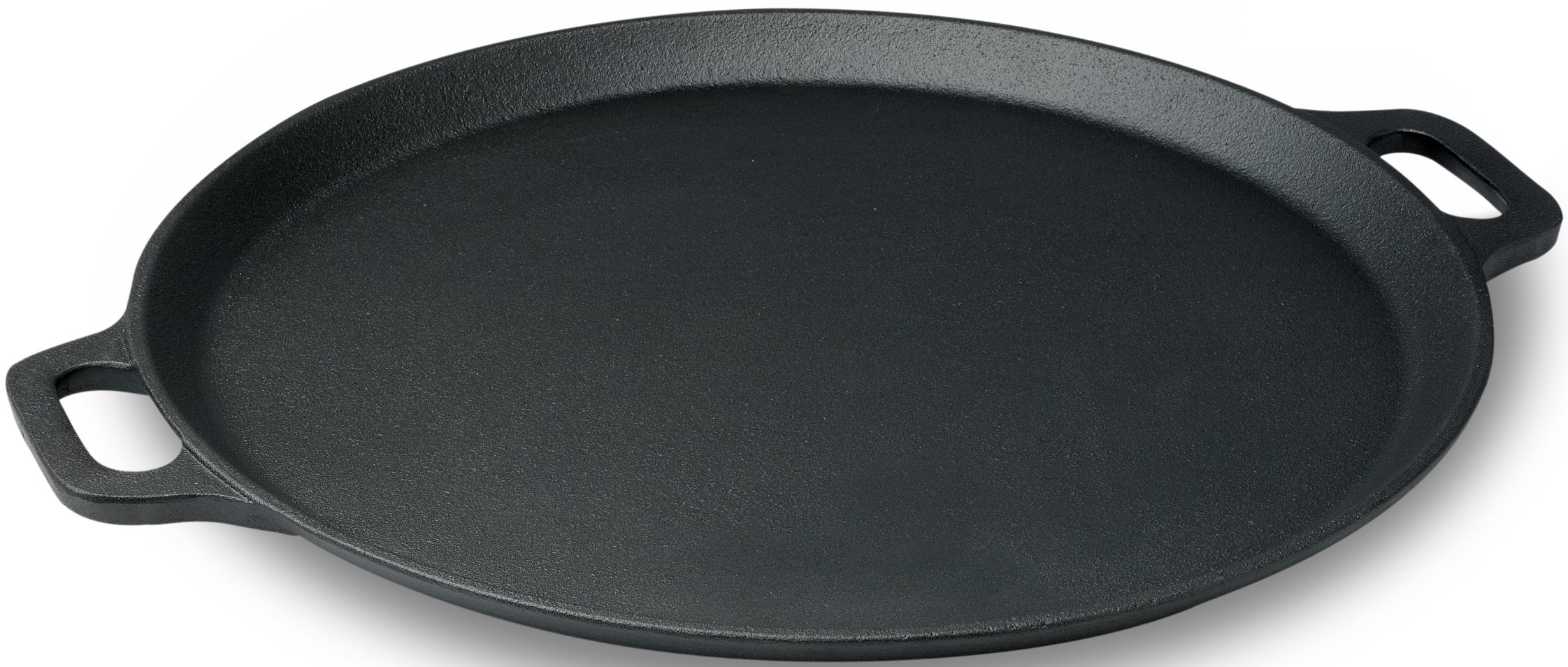 Emeril Pre-Seasoned Cast Iron Pizza Pan / Round Griddle, 13-Inch, Black