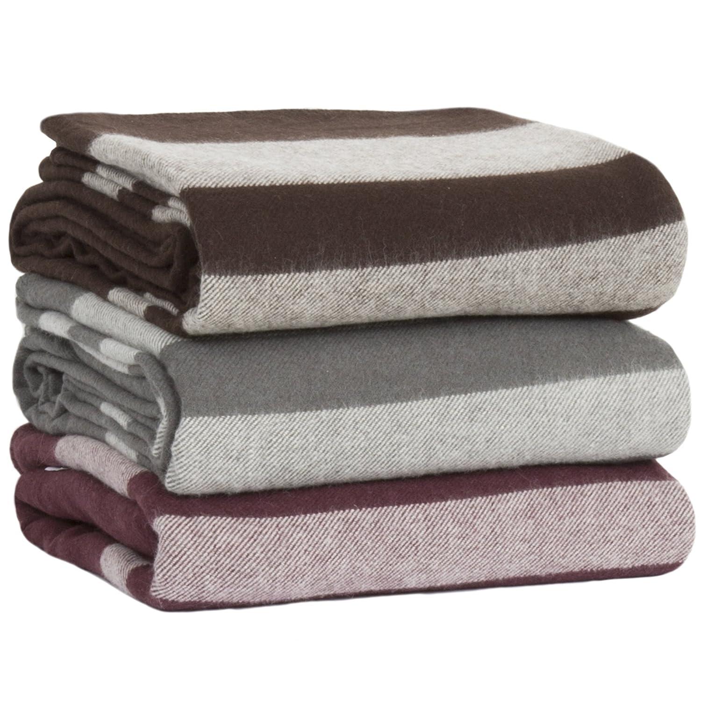 amazoncom lavish home australian wool blanket fullqueen brown home u0026 kitchen