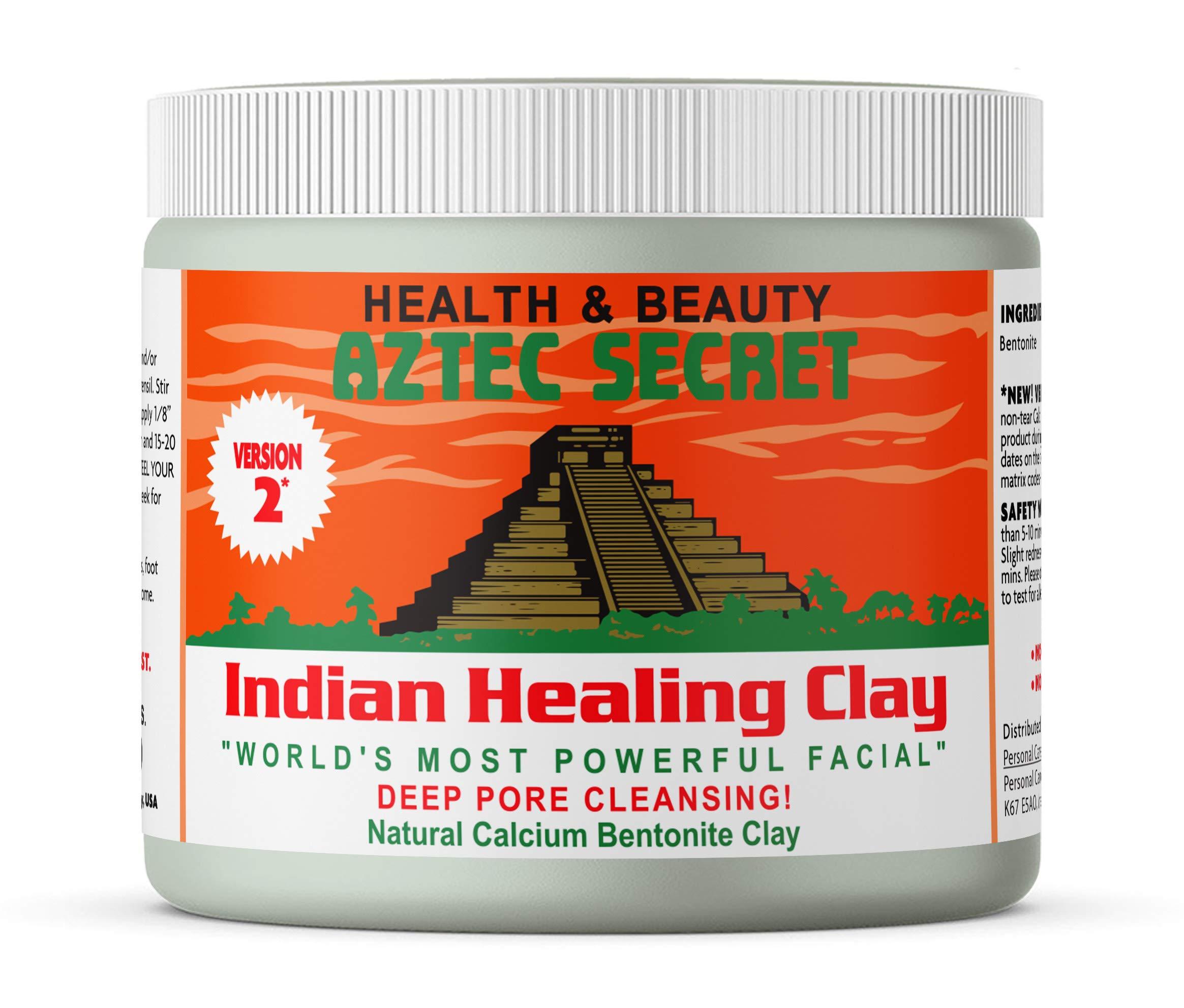 Aztec Secret - Indian Healing Clay 1 lb. (450 Grams) - Deep Pore Cleansing Facial & Body Mask - The Original 100% Natural Calcium Bentonite Clay - New Version 2