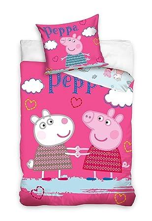 2 Tlg Kinderbettwäsche Bettwäsche 160x200 952 Peppa Pig Amazonde