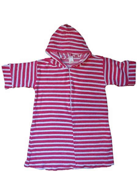Amazon.com  Kids Girls Boys Lightweight Terry Cloth Hooded Zip Front Robe  Cover Up (2 275bb5122