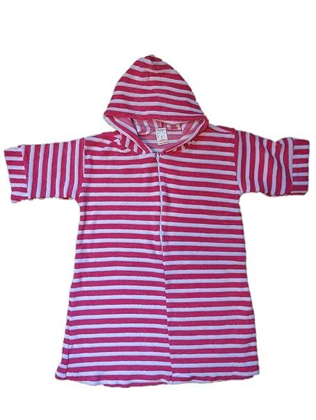 448f23da01 Amazon.com  Kids Girls Boys Lightweight Terry Cloth Hooded Zip Front Robe  Cover Up (2