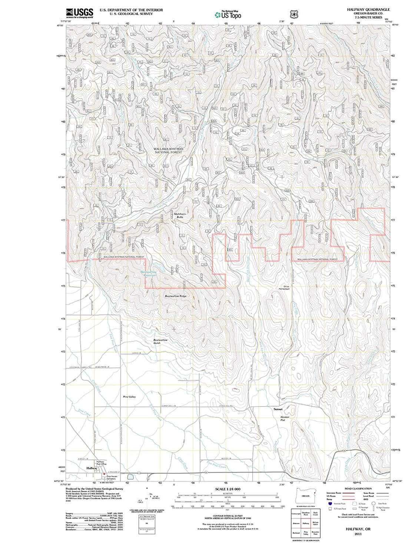 Halfway Oregon Map.Amazon Com Oregon Maps 2011 Halfway Or Usgs Historical