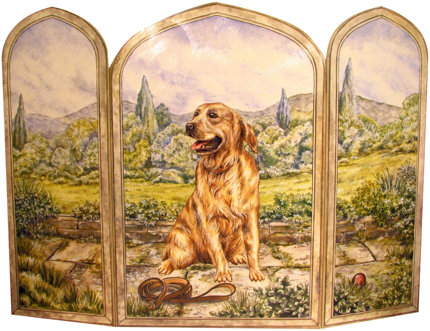Stupell yorkie dog 3 panel decorative fireplace screen - Amazon Com Stupell Home D Cor 3 Panel Decorative Dog Fireplace Screen Golden Retriever 43 X 0 5 X 31 Proudly Made In Usa Home Kitchen