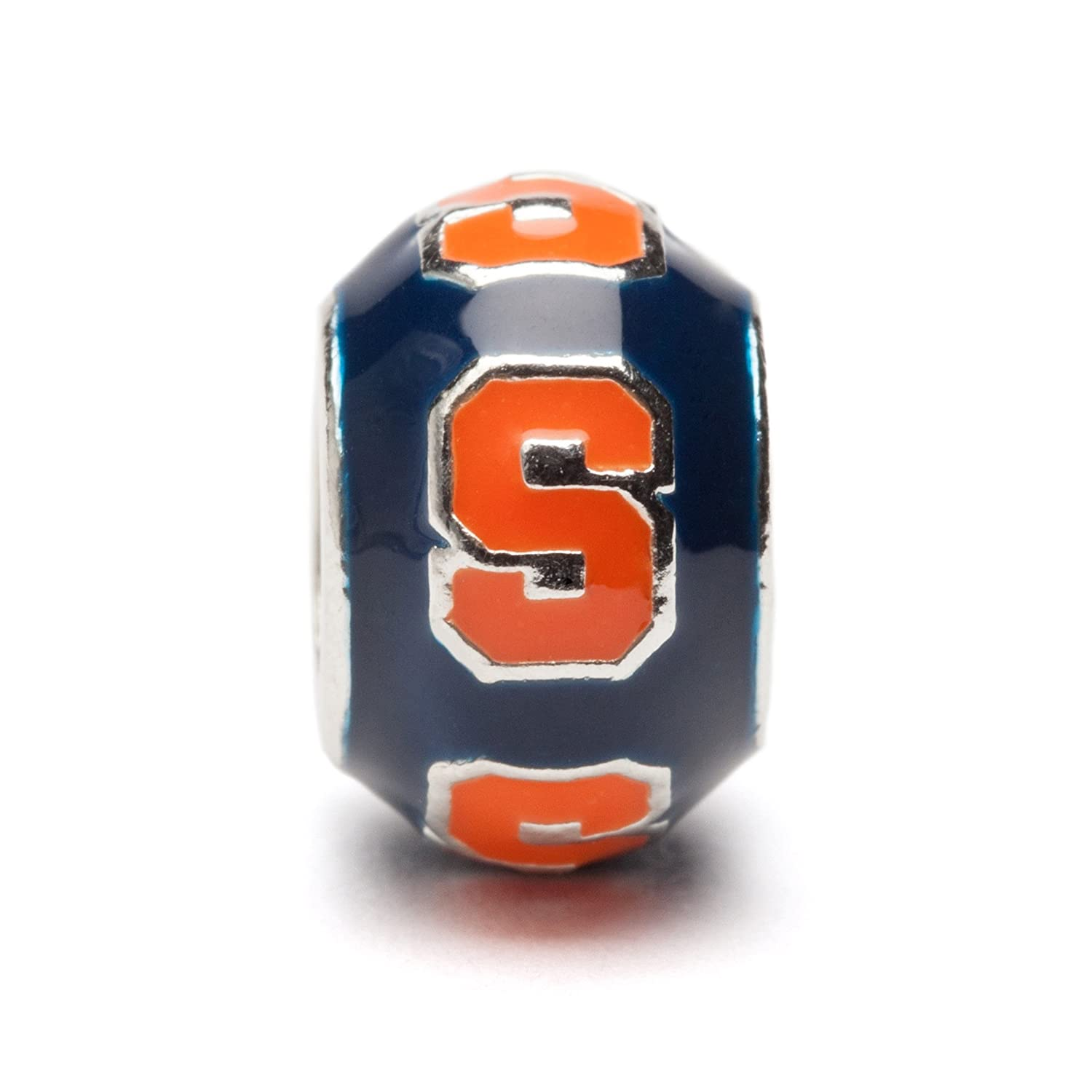 SU Charms Syracuse University Charm Stainless Steel Syracuse Oranges Gifts Syracuse Charms Officially Licensed Syracuse University Jewelry Orange S on Round Blue Bead SU Oranges Charm