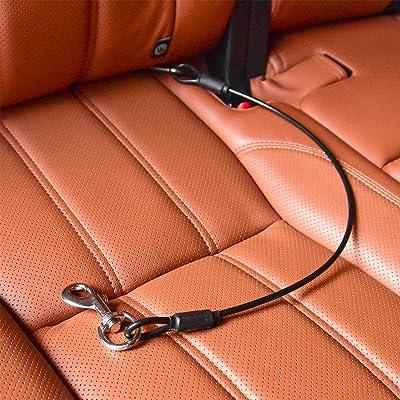 Dog Car Seat Belt Restraint CHEDE NO-Chew Pet Dog Cat Heavy Duty Car Vehicle Seatbelt