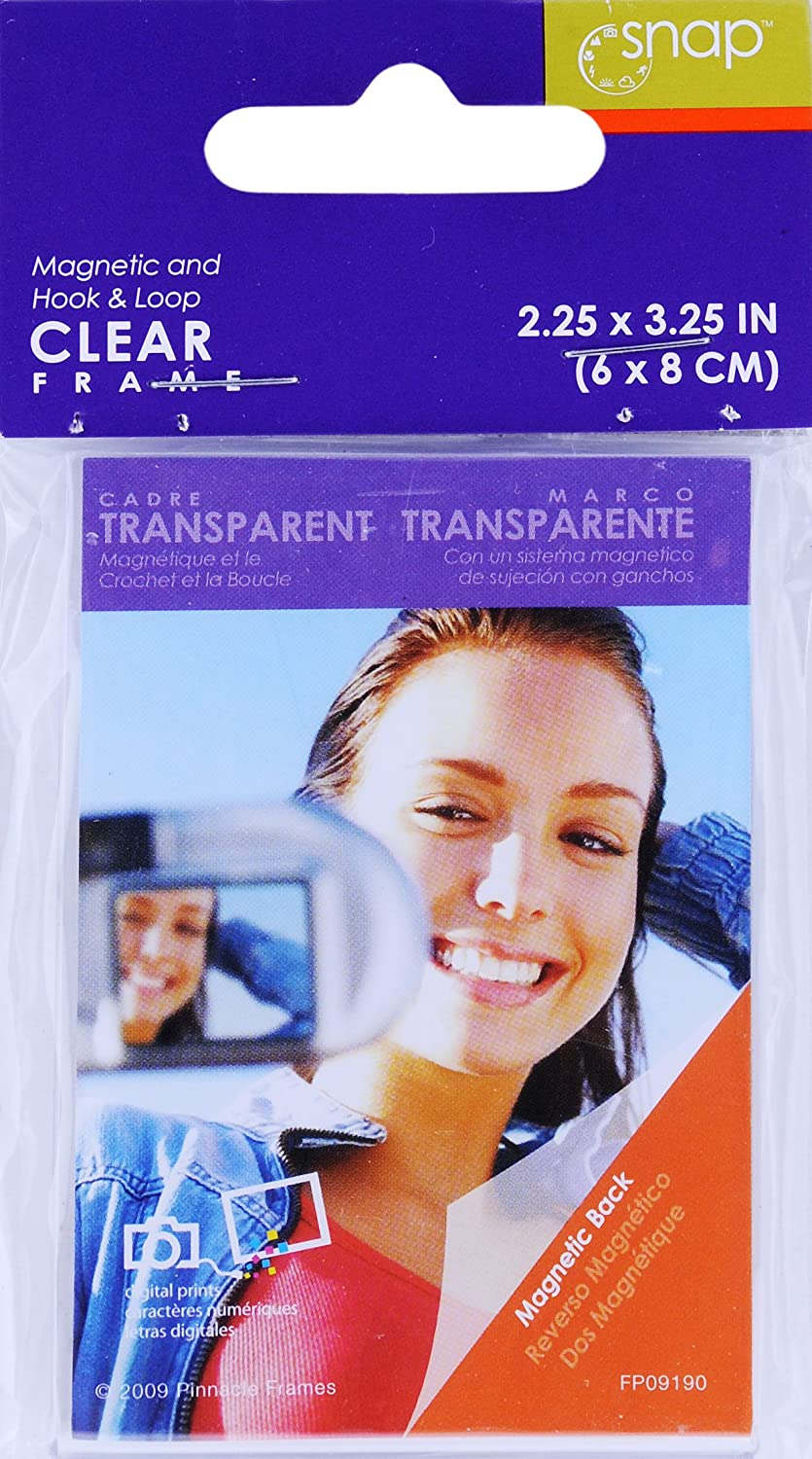 3-1//2-Inch by 5-Inch Snap 07FA991 Clear Magnetic Frame