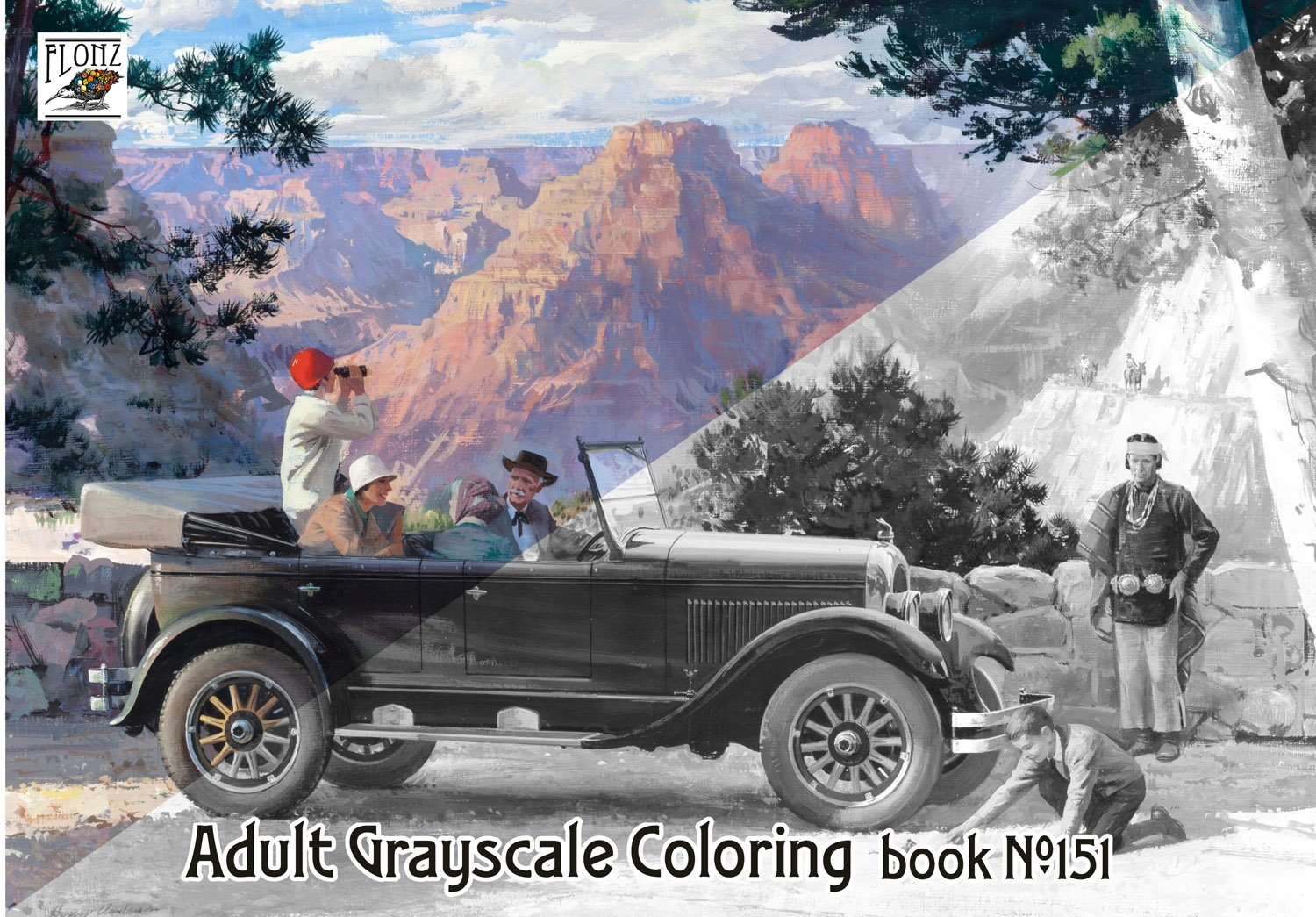 "Read Online Adult Coloring Book (24 pages 8""x11"") Harry Anderson Everyday Classic Cars FLONZ Vintage Designs for Grayscale Coloring pdf"