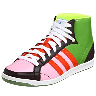 quality design 1ae15 d0e79 adidas Originals Womens Adi Hoop Mid W Court Shoe,GreenLavaPink,