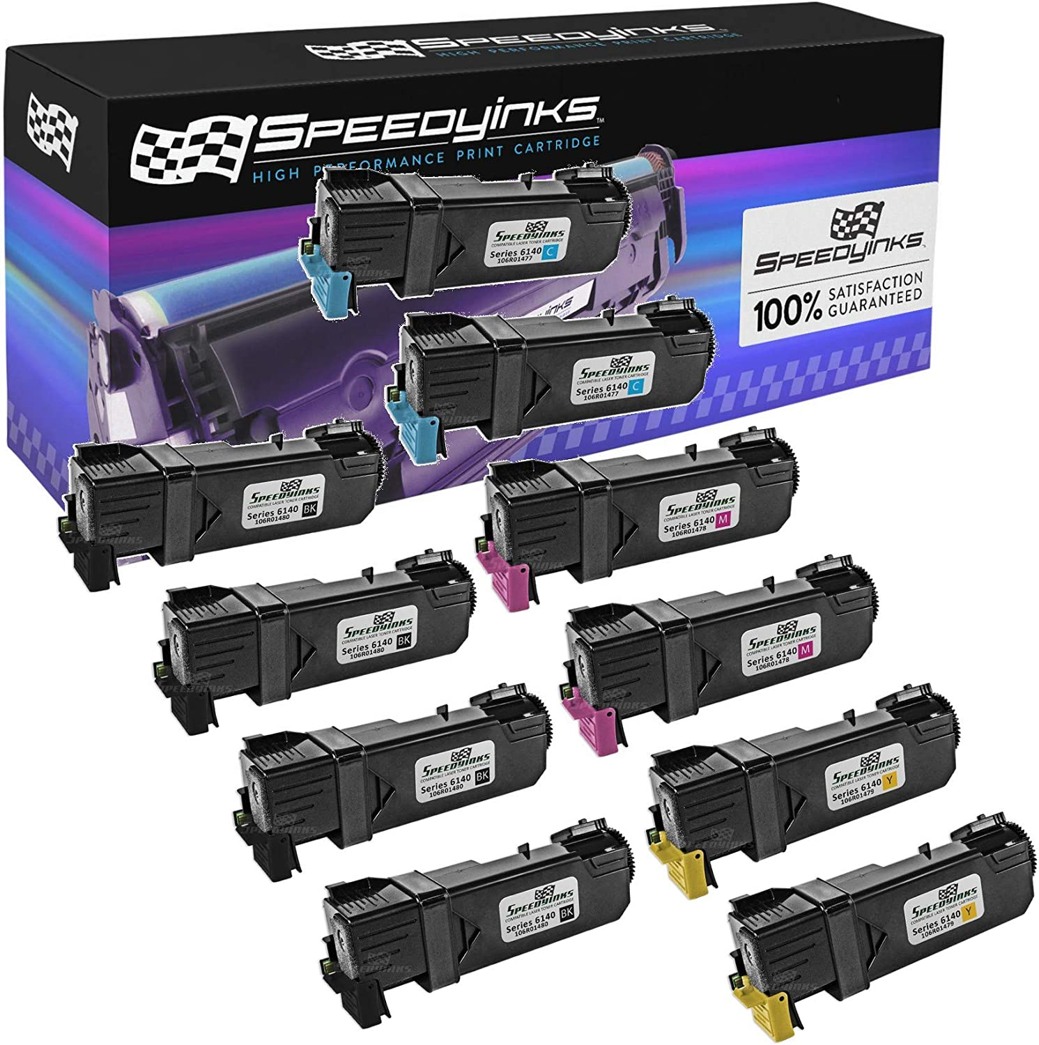 2,600 Pages Smart Print Supplies 106R1480 Black Compatible Toner Cartridge Replacement for Xerox Phaser 6140 Printers