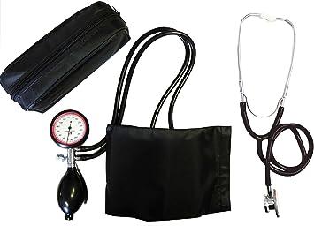 Tensiómetro electrónico de brazo de 2 Manguera + estetoscopio de doble cabezal Negro (1 Set=2 Artículo) doble cabezal stetoskop stetoskop stetoskope Tiga de Med: Amazon.es: Salud y cuidado personal