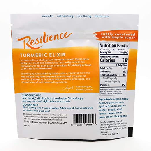 Resilience Turmeric Elixir 30 Drink Pouch