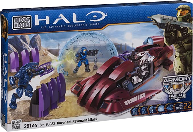 Mega Bloks 96982 - Halo UNSC Scythe contra Covenant Revenant ...