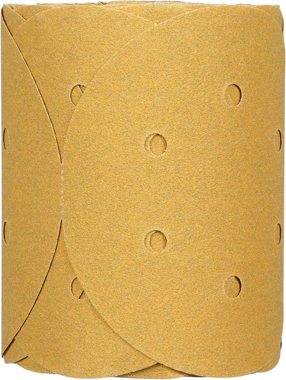125 discs per roll 6 in 3M Stikit Gold Disc Roll Dust Free P80 01643