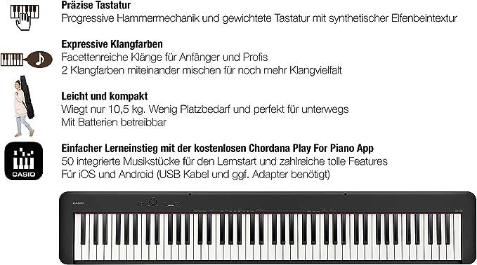 CDP-S100 NEGRO: Amazon.es: Instrumentos musicales