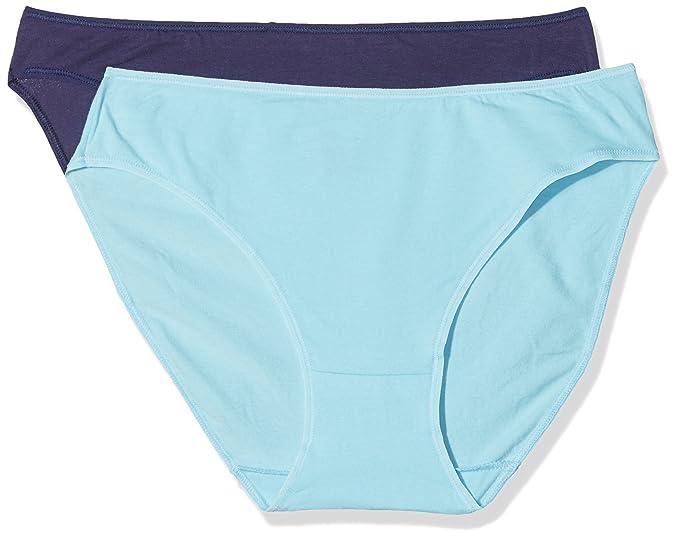 Unno DIM Basic Coton Stretch Mujer Slip, Braguita, Azul, No Aplicable (Tamaño
