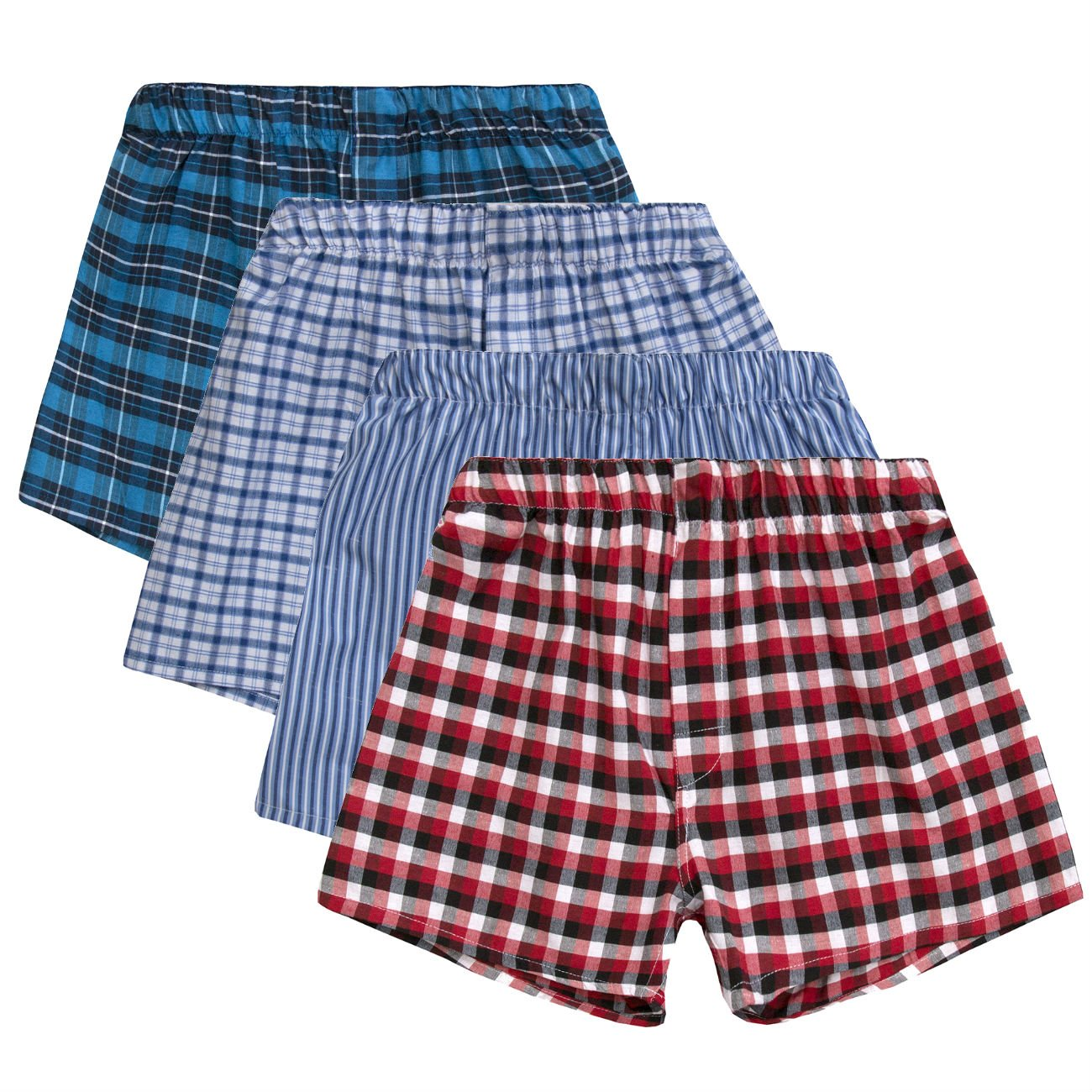 4KIDZ Boys Boxers Shorts | Cotton Rich Underwear | 4 Pair & 8 Pair Multipack - Ages 7 up To 13 Years