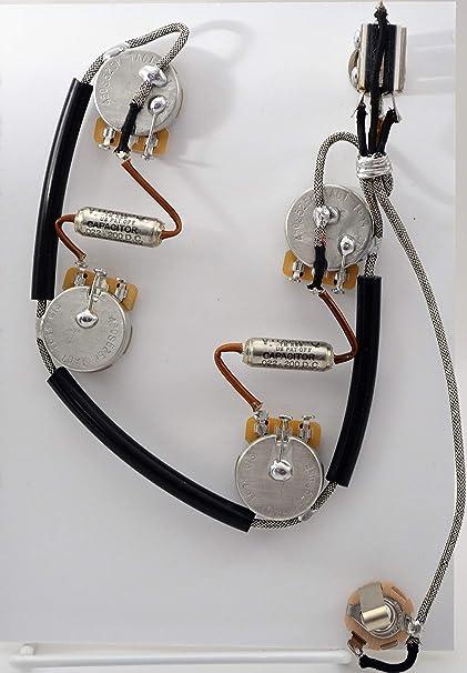 Amazon.com: ES-335 Wiring Harness Sprague Vitamin Q .022 uF ... on antique wiring harness, gibson les paul wiring diagram, gibson es 335 pickguard, fender strat wiring harness, gibson firebrand 335, gibson sg wiring, epiphone epi wiring harness, les paul wiring harness,