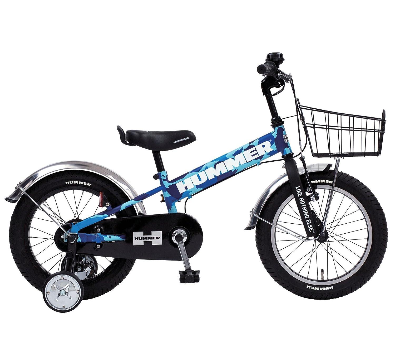 HUMMER(ハマー) KID'S16 TANK3.0-SE 16インチ 子供自転車 安定の良い極太タイヤ装着(16×3.0インチ) ステンレスフェンダー/ワイヤーバスケット標準装備 フルカバーチェーンケース 迫力満点キッズバイク 13377 B077M78P8H カモフラージュブルー カモフラージュブルー