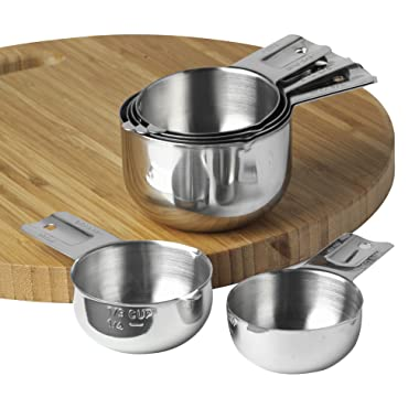Measuring Cups 6 Piece by KitchenMade-Stainless Steel-Nesting set.
