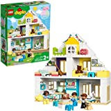 LEGO DUPLO Town Modular Playhouse 10929 Dollhouse with Furniture and a Family, Great Educational Toy for Toddlers (130 Pieces
