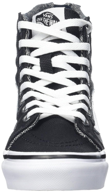 Vans Unisex Sk8-Hi Slim Women's Skate US Shoe B00AMLGO0W 5.5 M US Skate Women / 4 M US Men|Black/True White ccf336