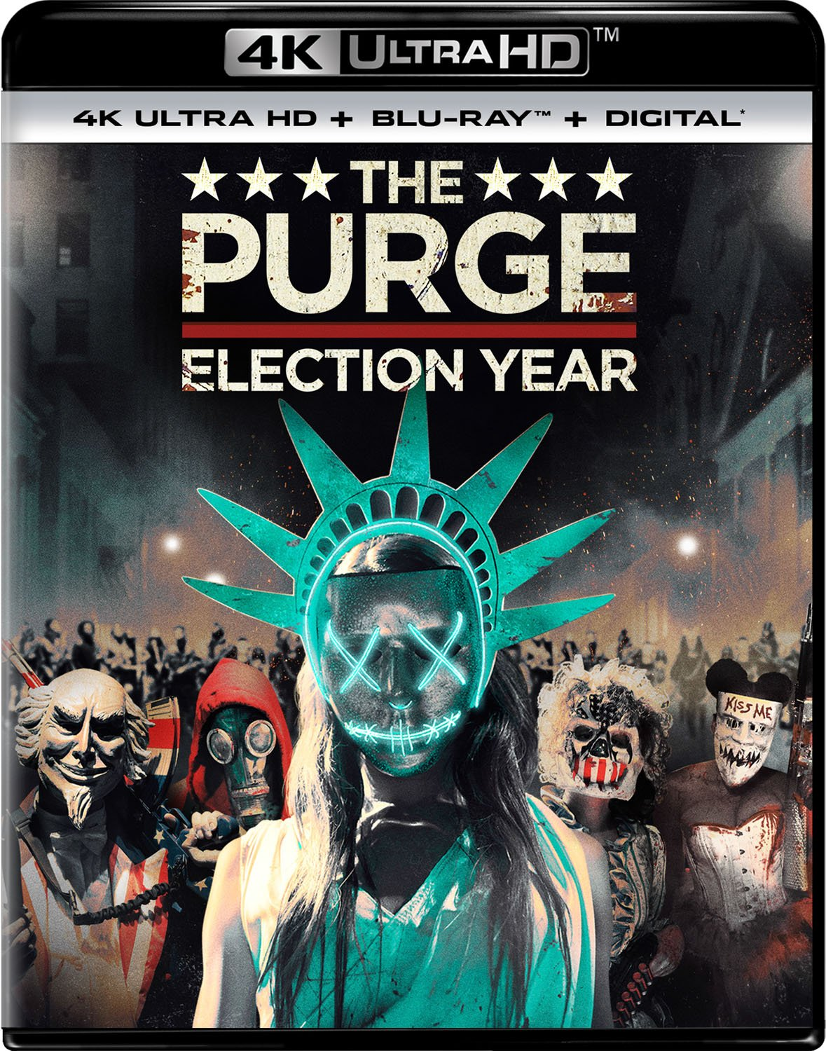 4K Blu-ray : The Purge: Election Year (With Blu-Ray, 4K Mastering, Digital Copy, 2 Pack, 2PC)