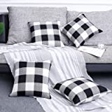 Volcanics Buffalo Check Plaid Throw Pillow Covers Set of 4 Farmhouse Decorative Square Pillow Cover Case Cushion Pillowcase 1