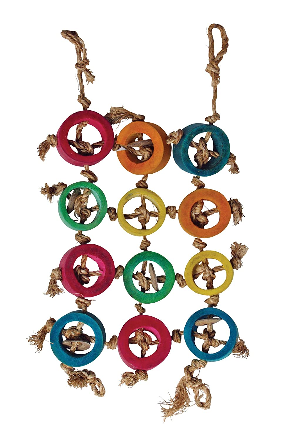 36X46Cm Living World Hand Made Ring Mural Bird Toy, Large, 36 x 46 cm
