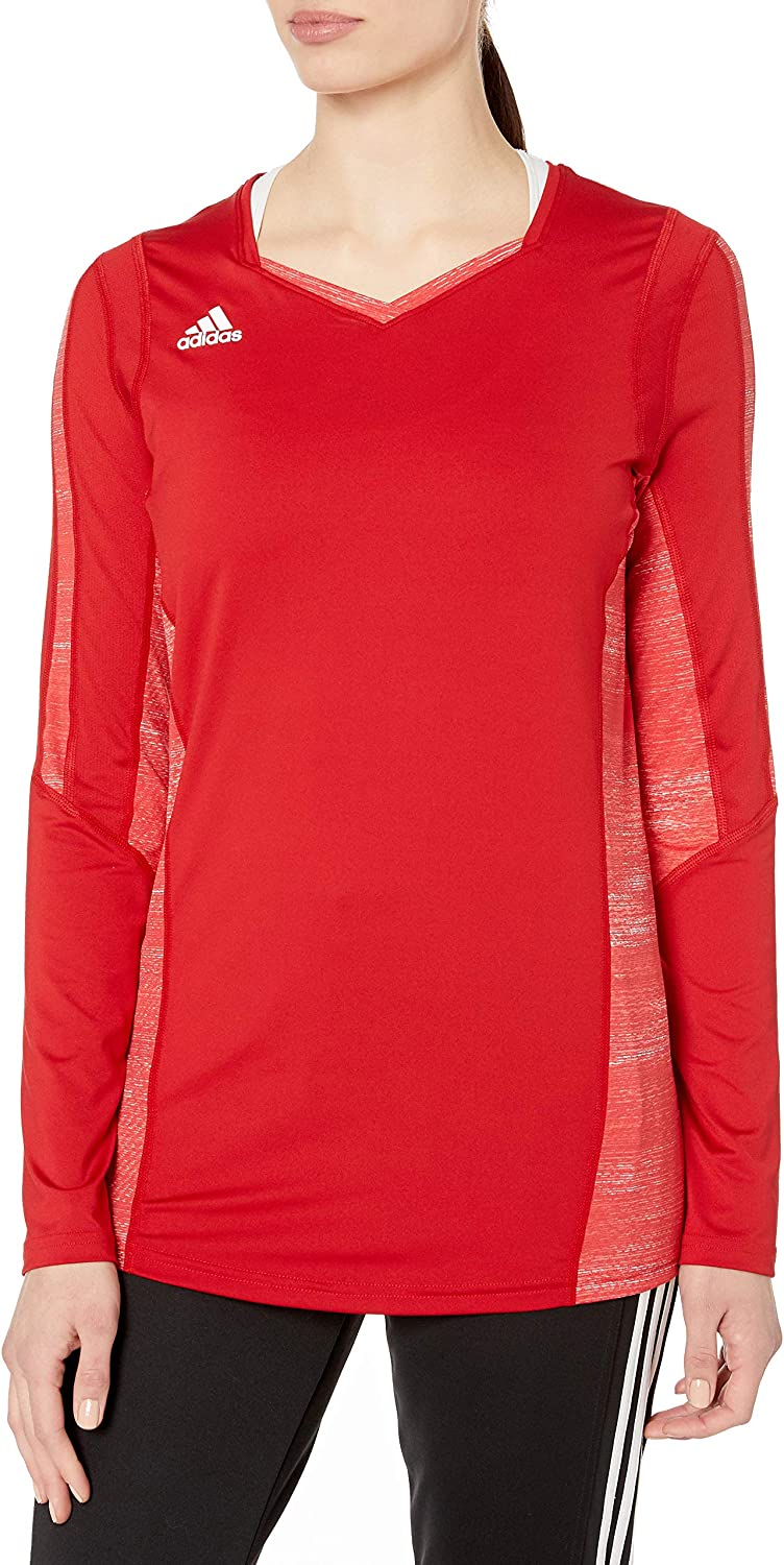 adidas Women's Free shipping anywhere in the nation Max 89% OFF Volleyball Quickset Jersey Sleeve Long