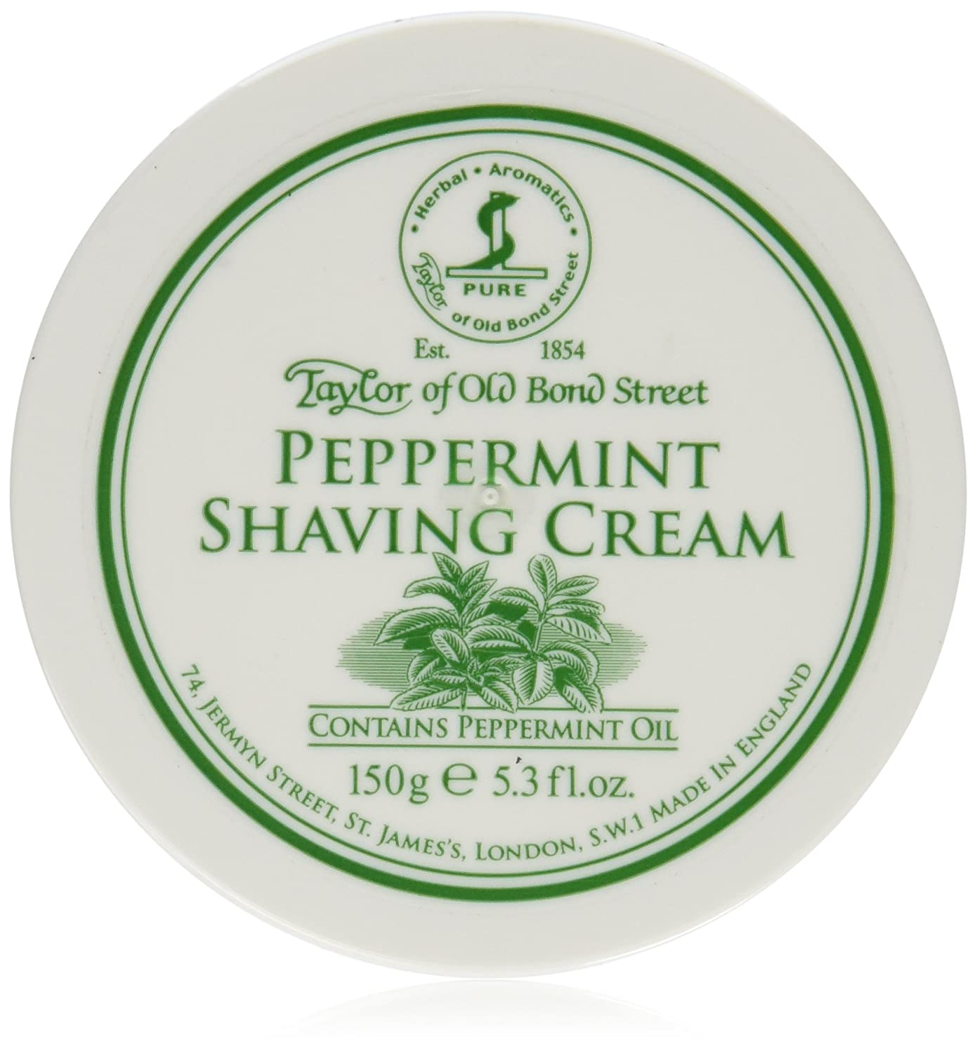 Taylor of Old Bond Street Peppermint Shave Cream (5.3 oz) 01018