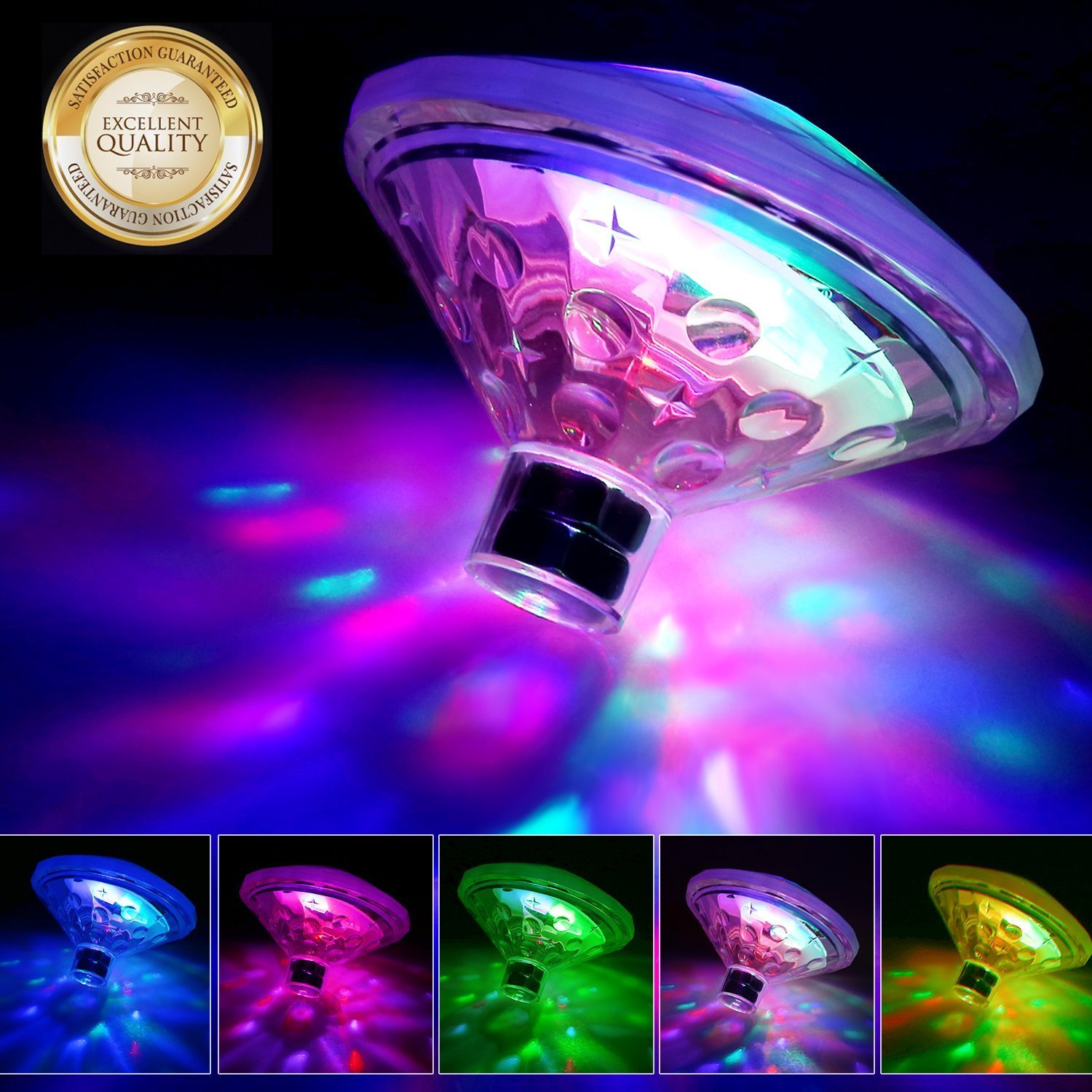 Ailiebhaus Whirlpool Pool Lighting Led Underwater Light Floating Lights Bathtub light with 5 different light shows