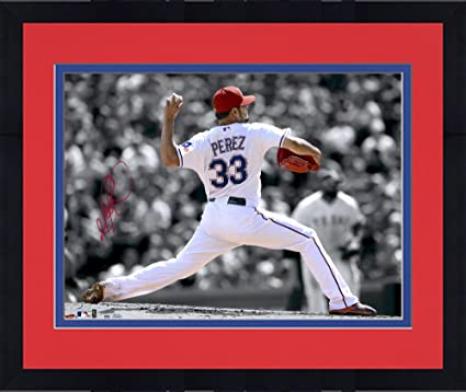Framed Martin Perez Texas Rangers Autographed 11 X 14 Spotlight Photograph Autographed Mlb Photos At Amazon S Sports Collectibles Store