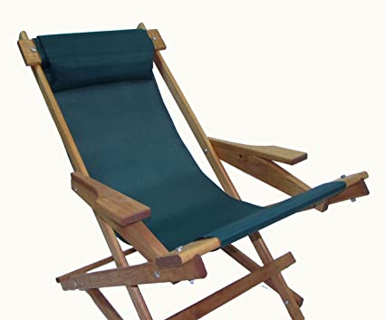 Peachy Wooden Folding Rocking Chair With All Weather Sling Hunter Green Gmtry Best Dining Table And Chair Ideas Images Gmtryco