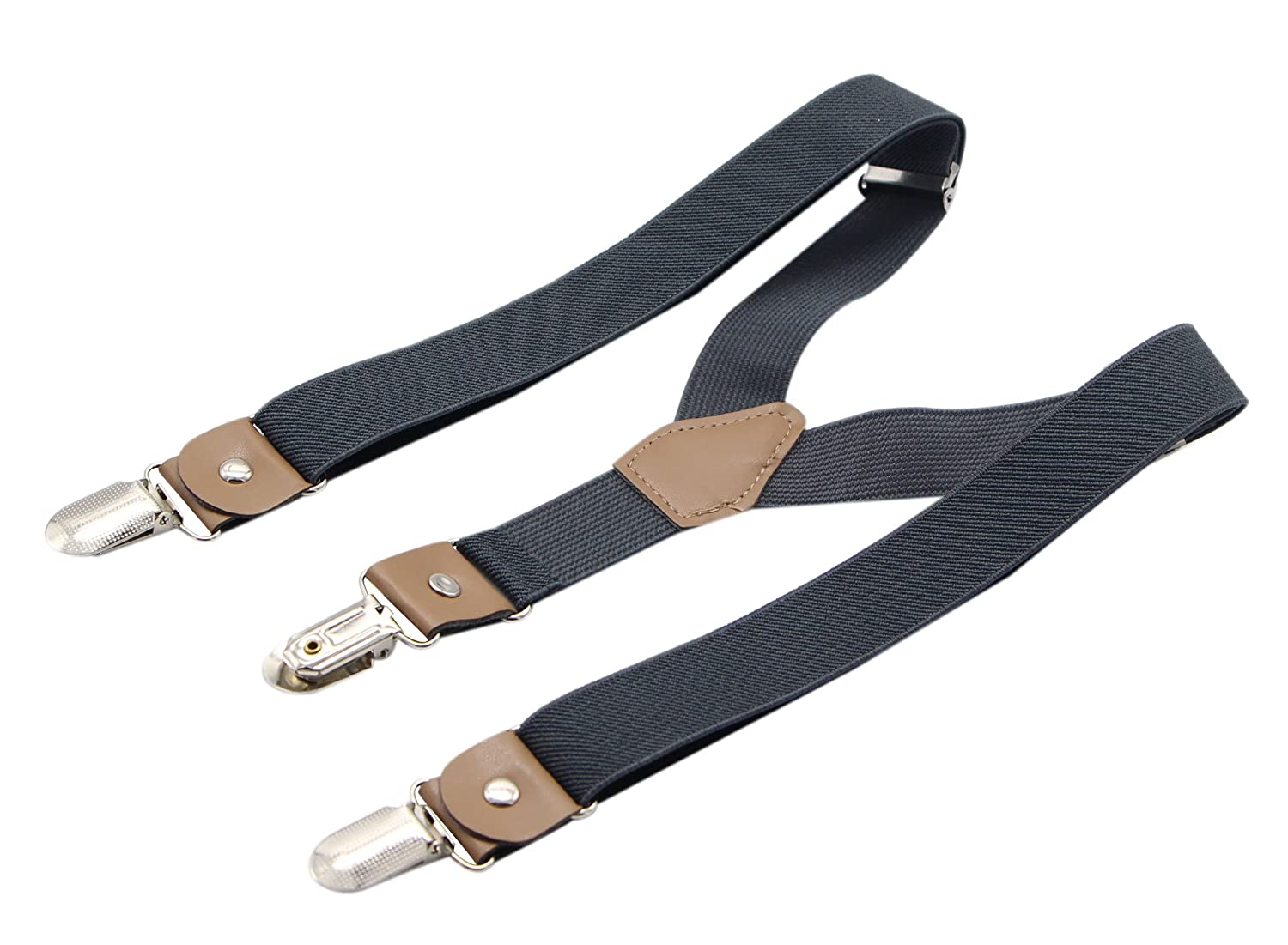 Bioterti Suspenders and Bow Tie For Toddler Kids Boys Adjustable With Strong Clips