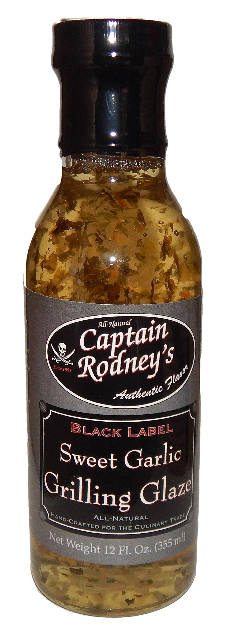 Captain Rodney's Black Label Sweet Garlic Grilling Glaze - 12 Ounce