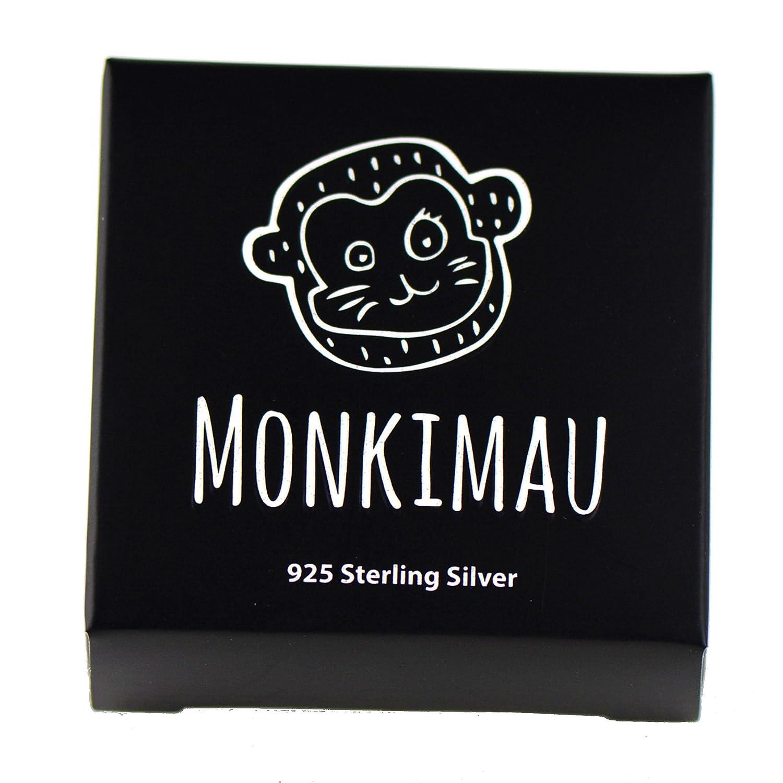 Monkimau Damen-Ohrringe Schmetterling-e aus 925 Sterling Silver Silber