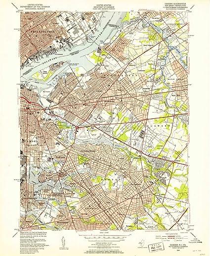 Amazon.com : YellowMaps Camden NJ topo map, 1:24000 Scale, 7.5 X 7.5 on