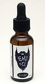 product image for Katana Beard Oil by Lick 'er Lips | Clean Manly Scent with Argan Oil, Jojoba Oil, Aloe Extract | Facial Grooming Oil and Conditioner - 1 oz. bottle