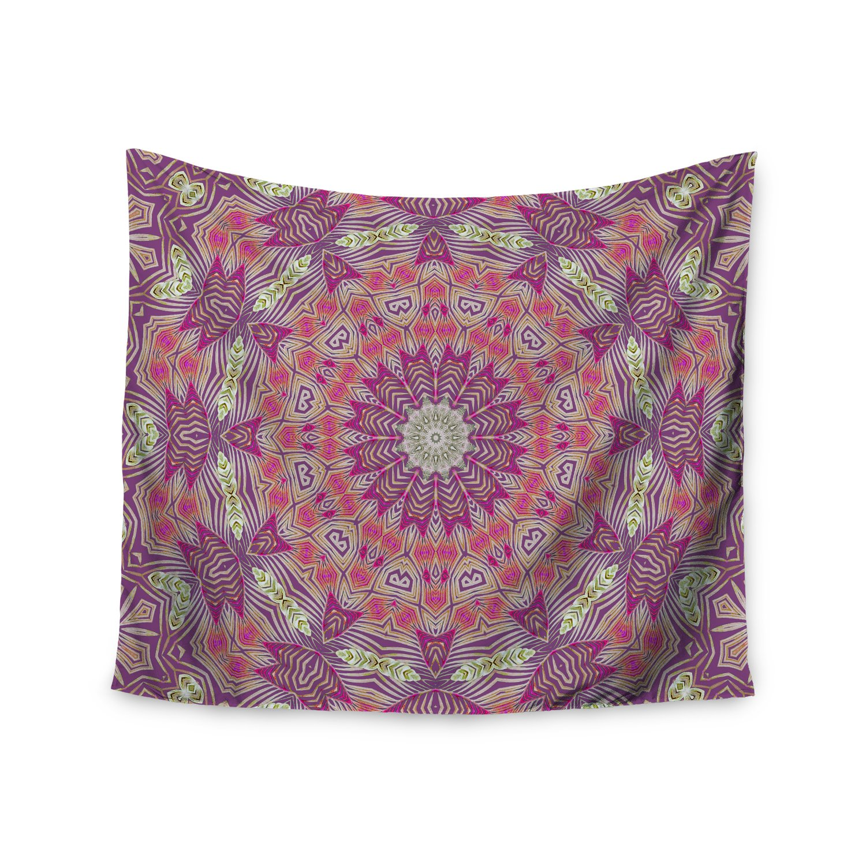 Kess InHouse Alison Coxon Gypsy Medallion Purple Pink Digital 51 x 60 Wall Tapestry