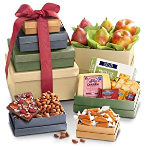 Savory & Sweet Tower of Treats - Gourmet Food for Holiday, Corporate Gifting