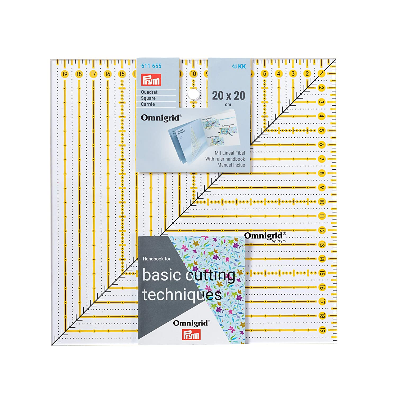 Prym Patchwork Square Omnigrid R/ègle Plastique Transparent 20 x 20 cm