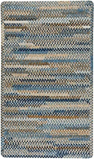 "product image for Habitat Blue 0' 27"" x 0' 48"" Cross Sewn Rectangle Braided Rug"
