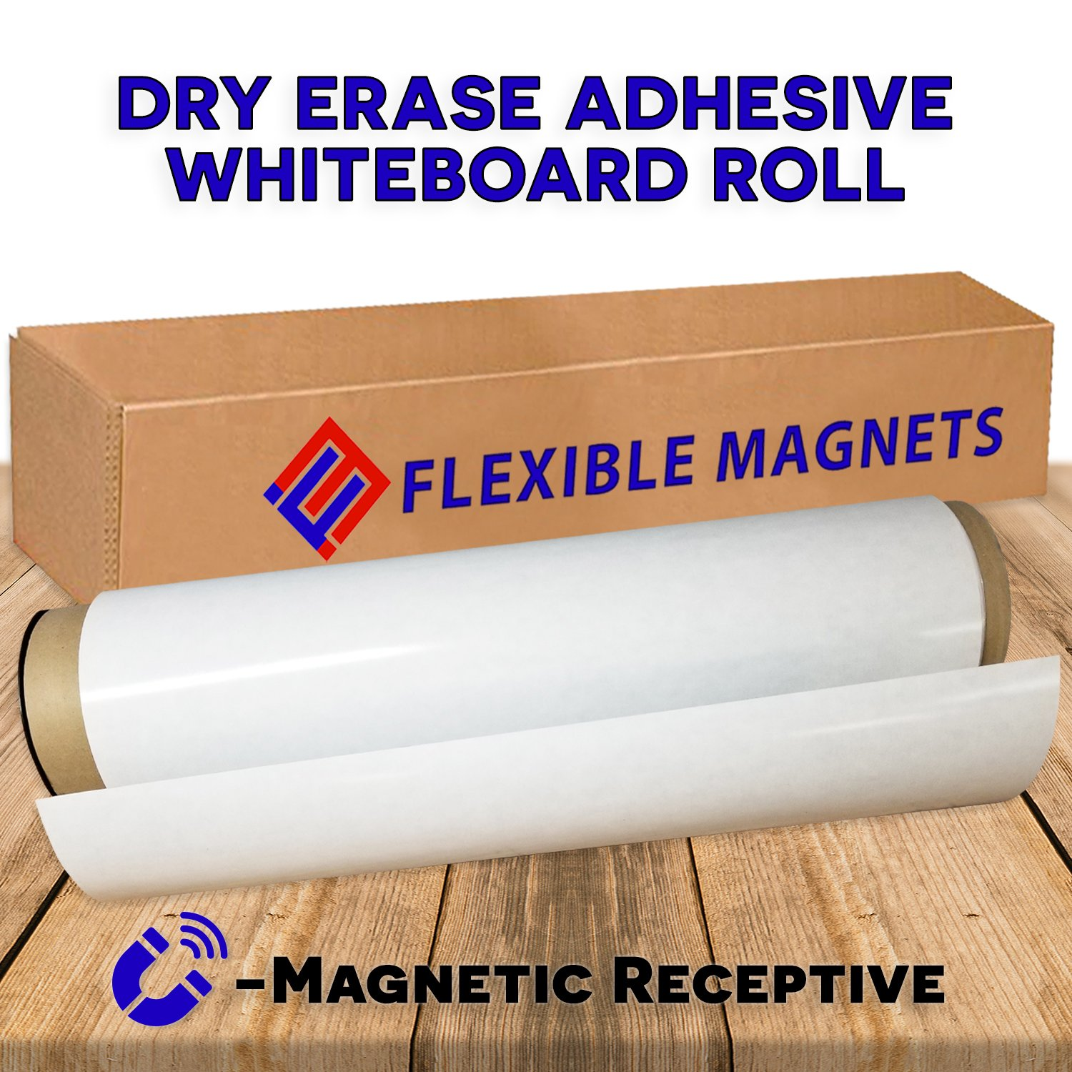 Dry Erase Board With Adhesive Back. Wall White Board Stick,Dry Erase Wall Decal Paper for Kids Education, DIY, Work, School, Home, Office- Magnetic Receptive (2 ft x 1ft)